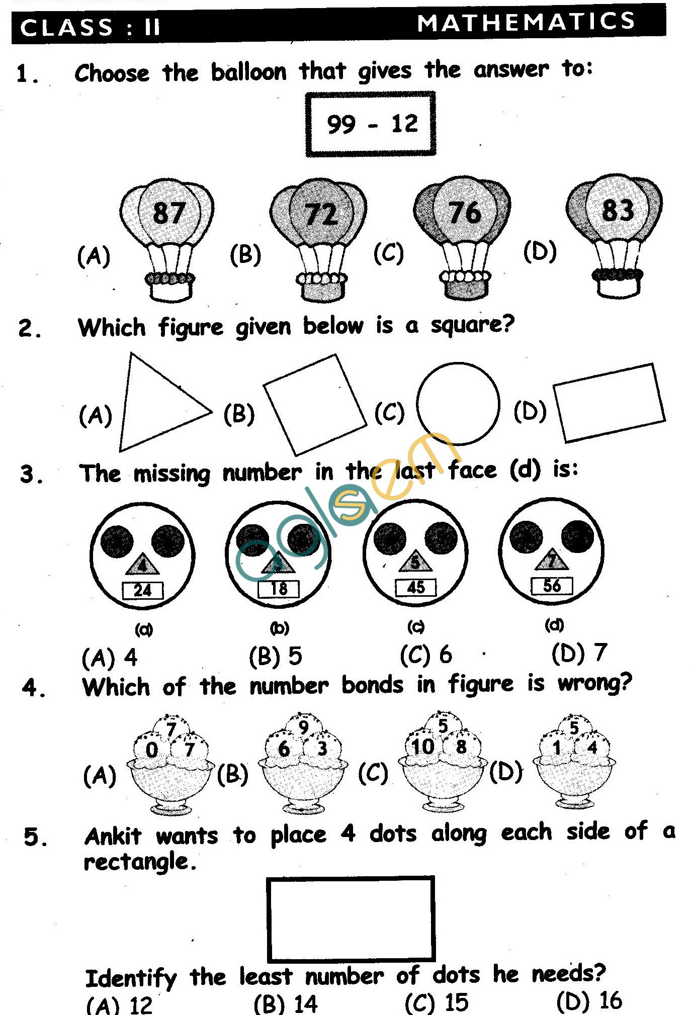 Nstse Solved Question Paper For Class Ii