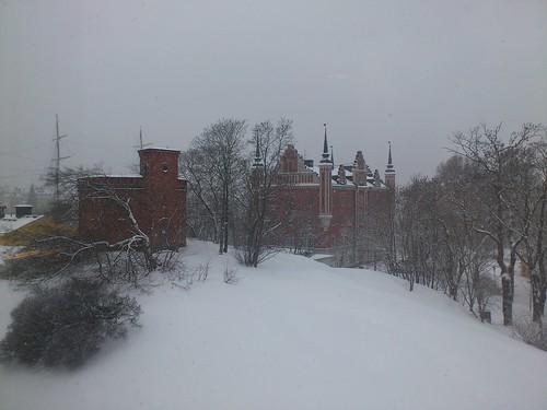 Skeppsholmen i snö