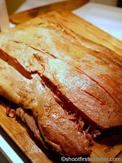 Bizu Private Caterer-10 hour US roast beef belly with mushrom sauce & horseradish cream