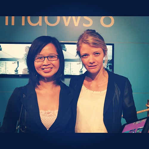 Meeting @watsonjessica at the #Windows8 launch today in #Sydney.