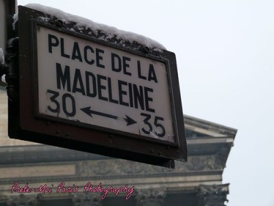 Paris Snow : Place de la Madeleine