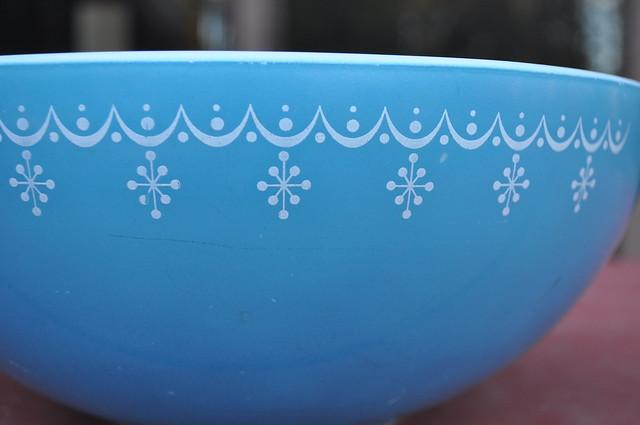 Snowflake Blue Mixing Bowl
