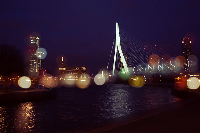 Rotterdam at night