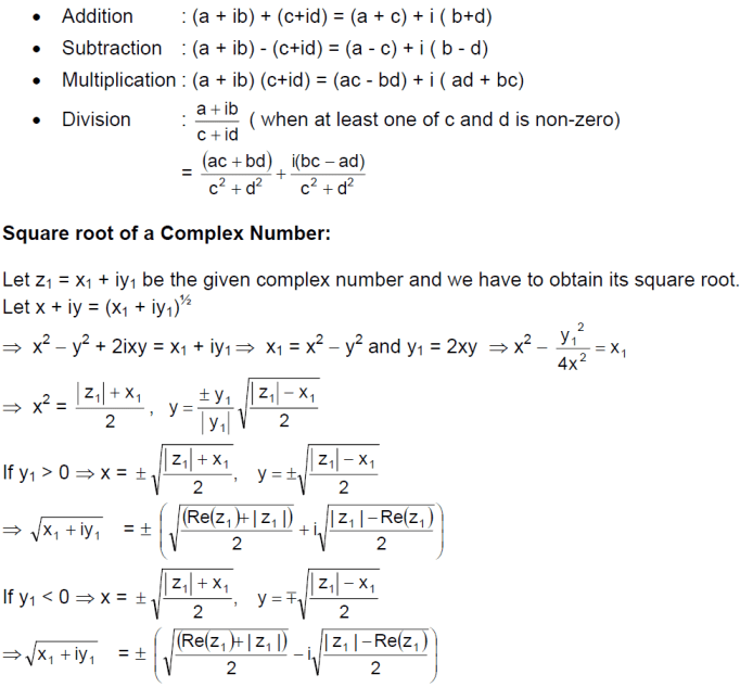 lgebraic Operation with Complex Numbers