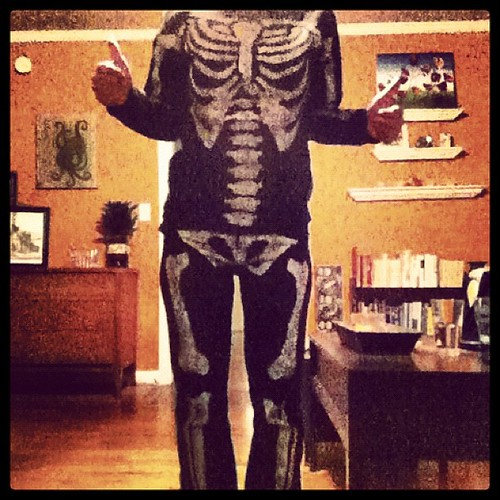 FACT: Skeleton pajamas always come in handy.
