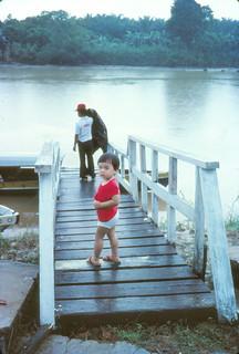 1982 - Me at Labuk River jetty