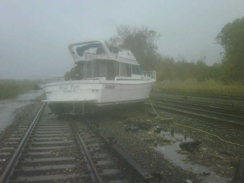 Boat On Tracks At Ossining by MTAPhotos
