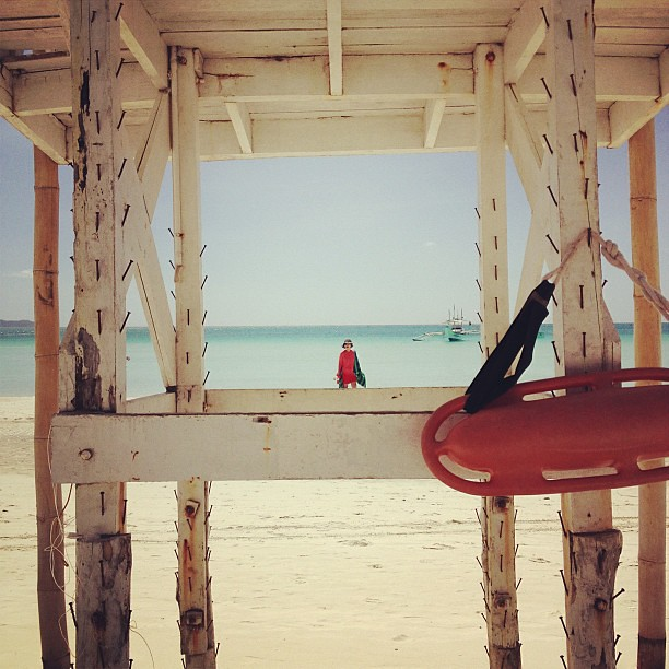 Baywatch moment in Boracay