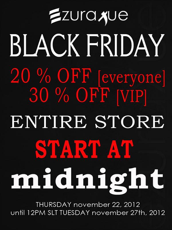 ezura + Thanksgiving Black Friday Sales!