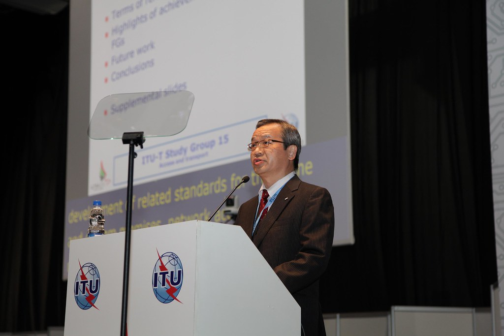 Mr Yoichi Maeda, Chairman, ITU-T Study Group 15, addressing the WTSA-12 Plenary