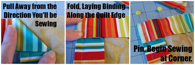 How to Bind a Quilt, Binding the Corners