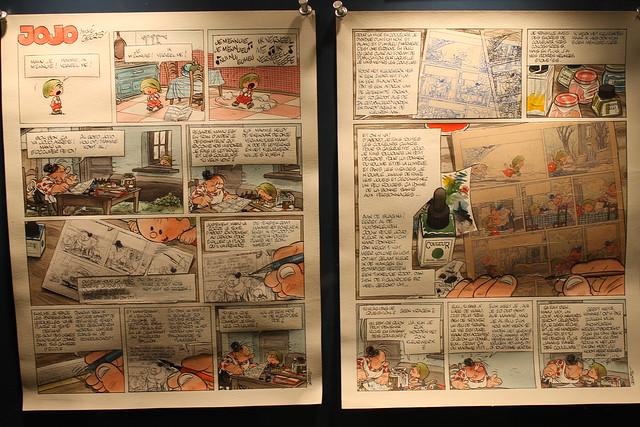 Planche de Jojo expliquant le procédé d'encrage