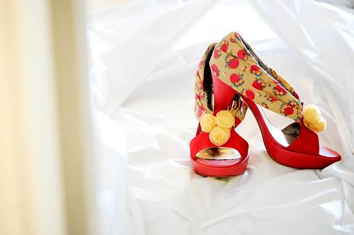 The shoes wait