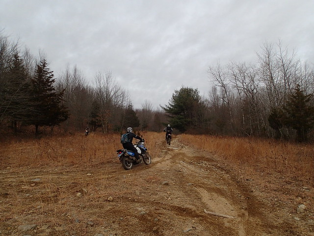 Sandpit fun ... this would be more extreme if your man wasn't riding a KLR! Man, the way he handled that thing. Such a nice guy.