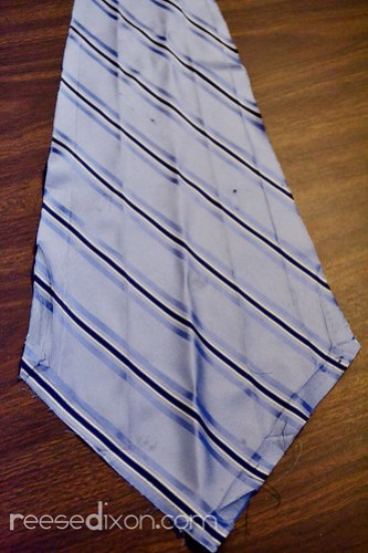 Kid's Artwork Tie Tutorial Step 1