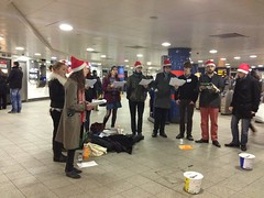 Carollers in a Tube Station