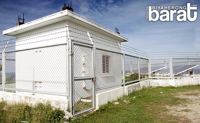 solar panels of Cape Bolinao Lighthouse Pangasinan