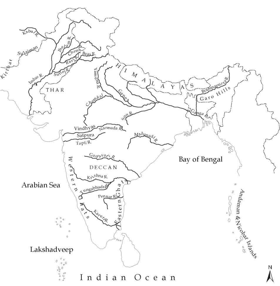 The India Outline Map is given specially for the students