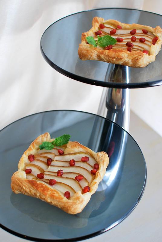 Pomegranate-Pear Tarts
