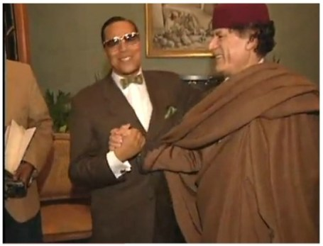 Image result for gaddafi and farrakhan