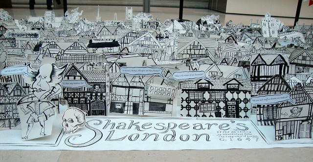 Shakespeare's London out of paper at the British Museum