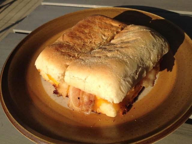 Bacon egg breakfast sandwich - Firehouse Coffee