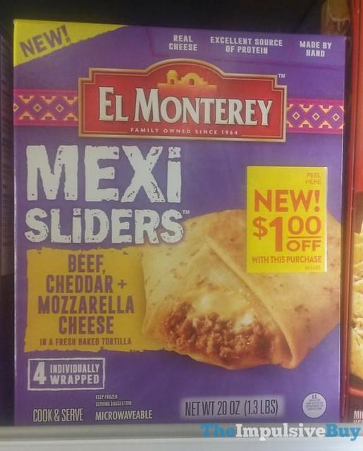 El Monterey Beef, Cheddar & Mozzarella Cheese Mexi Sliders