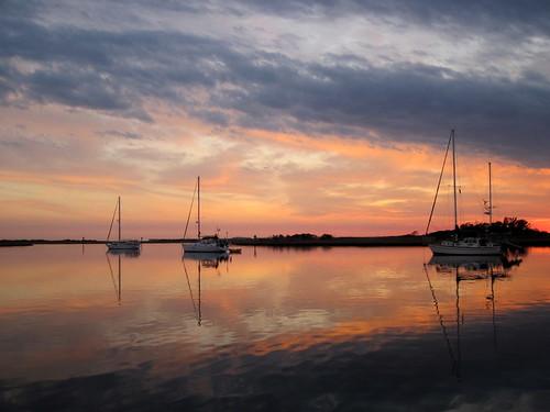 Spectacular sunset in Mile Hammock Bay