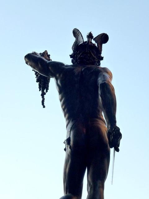 Florence - jour 1 - 102 - Piazza della Signoria - Loggia dei Lanzi - Persée par Benvenuto Cellini