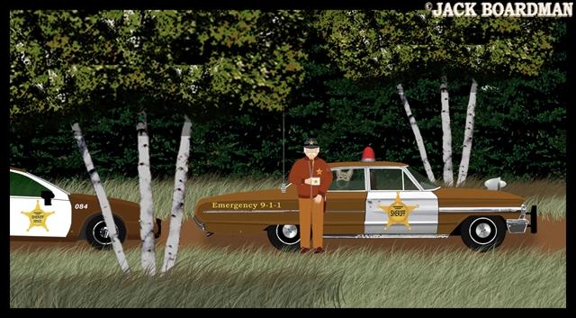 Sheriff's Deputy Oliver Funk found Sheriff McCoy's squad ©2012 Jack Boardman