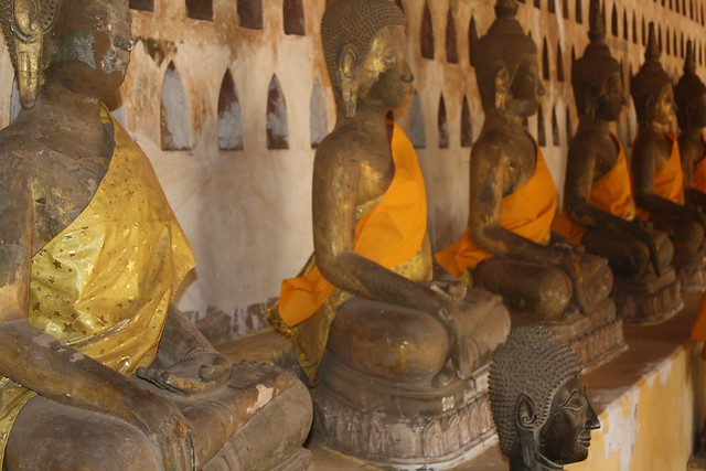 Buddhas at Wat Sisaket in Vientiane