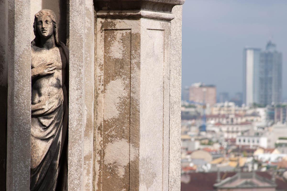 En los tejados de la catedral