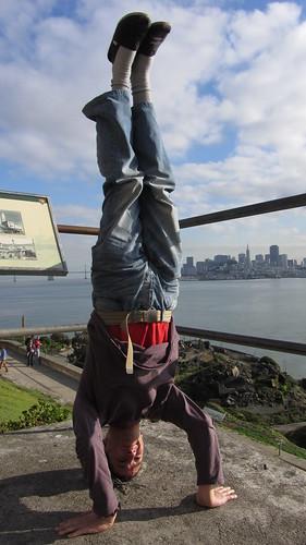 3. alcatraz headstand