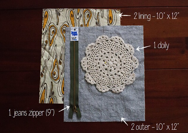 foldover doily clutch tutorial