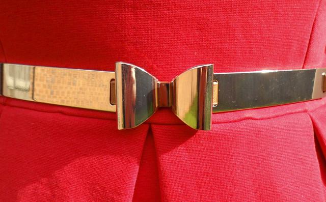 Red dress belt