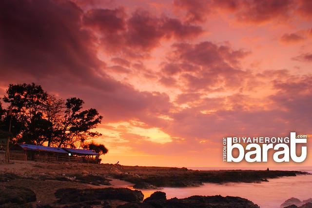 sunset in San juan