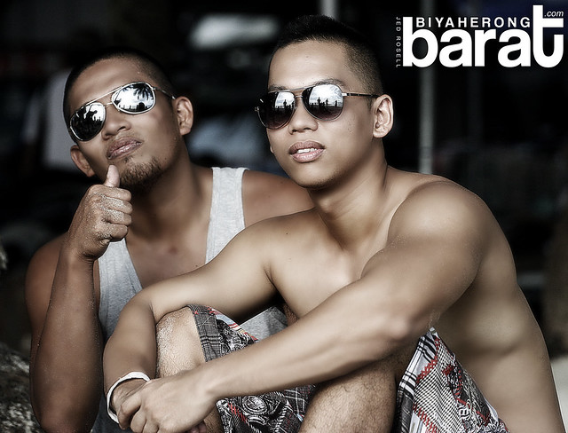 Pong and Topher in Boracay Island