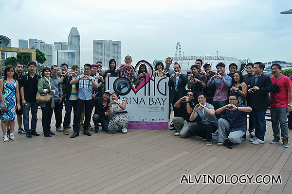 Group photo featuring all the AmBAYssadors and the organisers