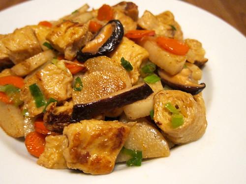Stir-Fried Nagaimo with Beancurd (山藥炒腐腸)