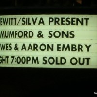 Mumford & Sons @ The Hollywood Bowl (11/10/12)