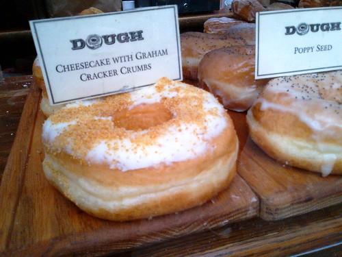 Cheesecake with Graham Cracker Crumbs Doughnut from DOUGH