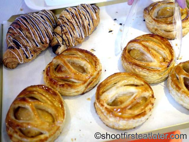 choco croissant & apple pie P50 each