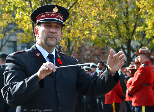 The Conductor of the Salvation Army Brass Band