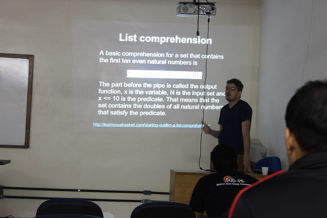 Palestra ministrada por Gustavo Pinto sobre Haskell e Python Funcional