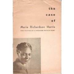 Committee to Defend Marie Richardson Pamphlet: 1952 ca