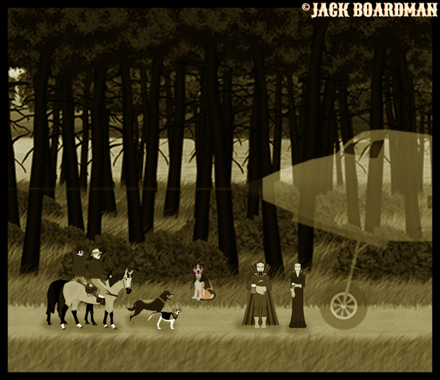 Cujo arrived on the 1873 logging road ©2012 Jack Boardman