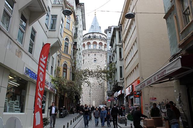 Galata Tower street view