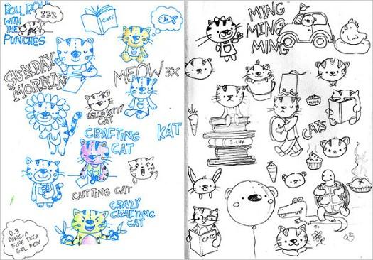 Cat doodles
