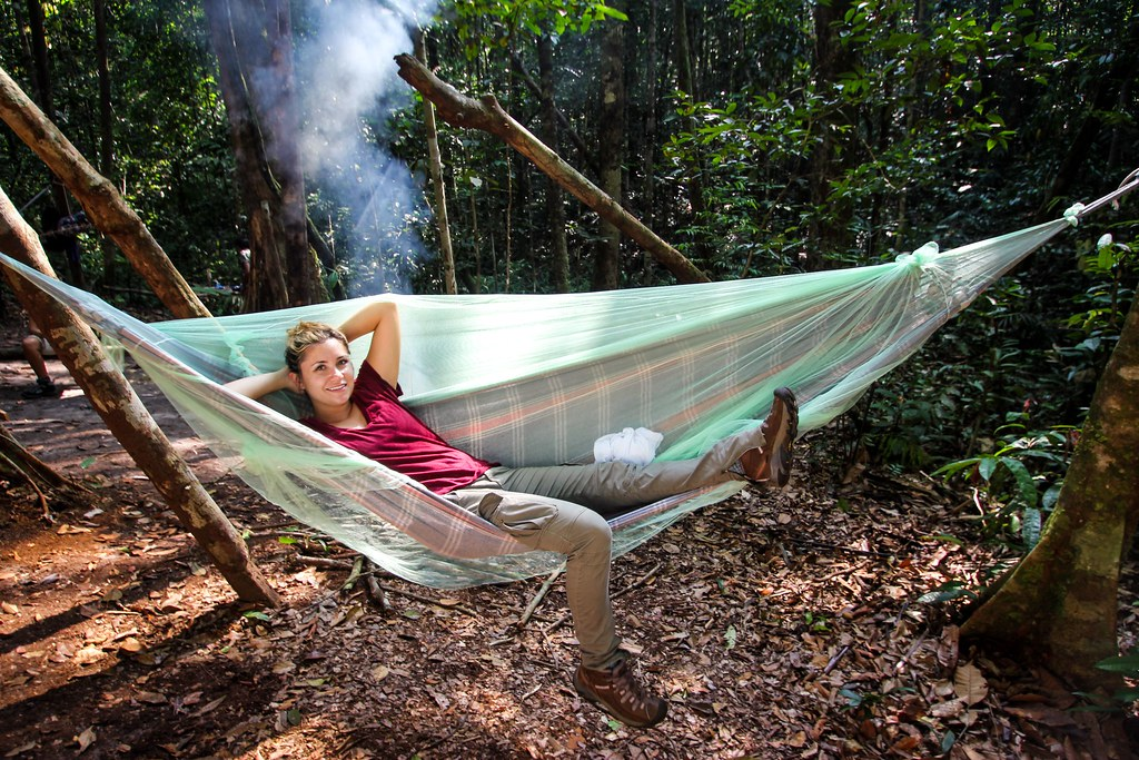 Hammock in Jungle Camp - Amazon, Brazil