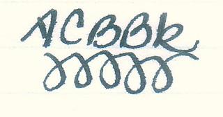 Noodler's Air-Corp Blue-Black Ink on Ampad Gold Fibre